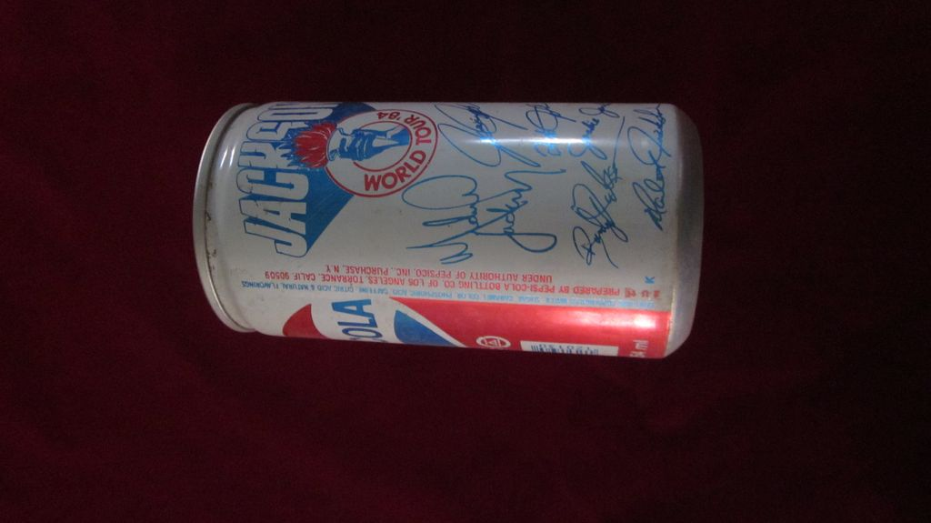 1984 Jackson's World Tour Pepsi Pop Top Can