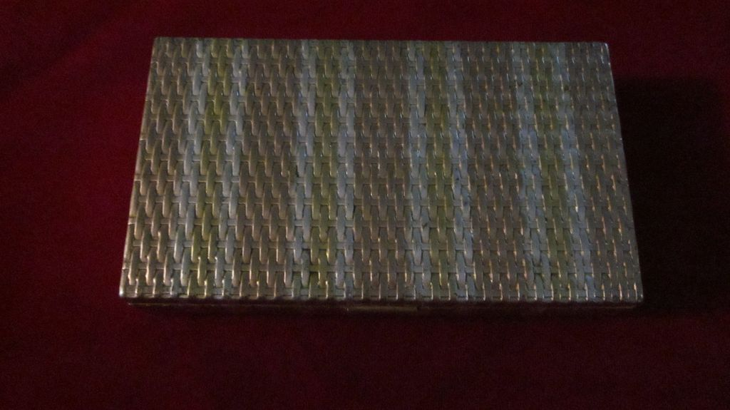 Evans Silver/Gold Basket Weave Carry All