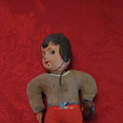 Celluloid and Cloth Body Football Player Doll, Japan