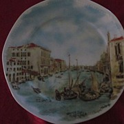 Grand Canal Hand Painted Souvenir Plate by Canaletto, Mitterteich