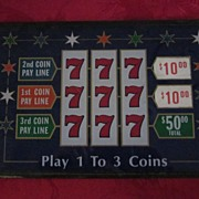 Vintage Slot Machine Glass Front Panel