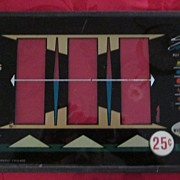 Vintage Bally Slot Machine Glass Panel