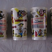 Deka Plastics Terrytoons Tumblers, 6 oz., Set of 4 New/Old Stock