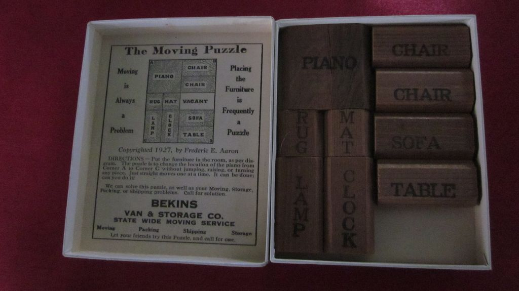 Bekins The Moving Puzzle Wooden Furniture Moving Puzzle