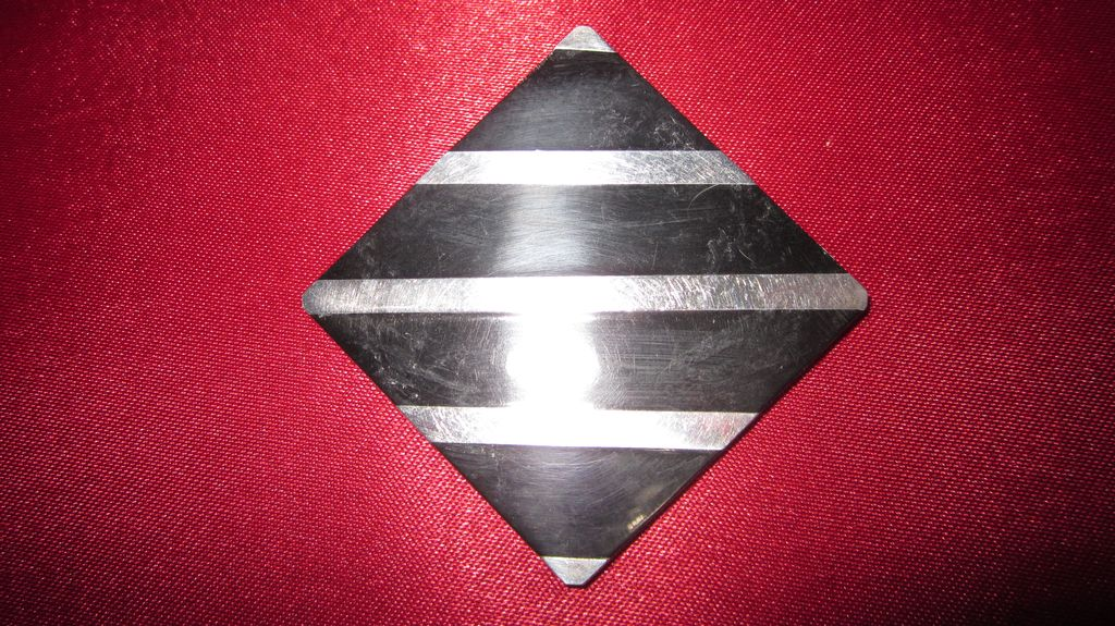 Taxco Silver and Jet Art Deco Striped Brooch