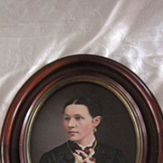 A. D. Cooper Framed Oval Portrait of Eleanor Lake Hauthorn, 1878