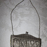 Whiting and Davis Diamond Design Metal Mesh Purse