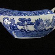 Vintage Blue Willow Gravy Boat
