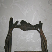 Twig Handle Rustic Basket