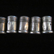 Individual Sterling Silver Shakers, Set of 6