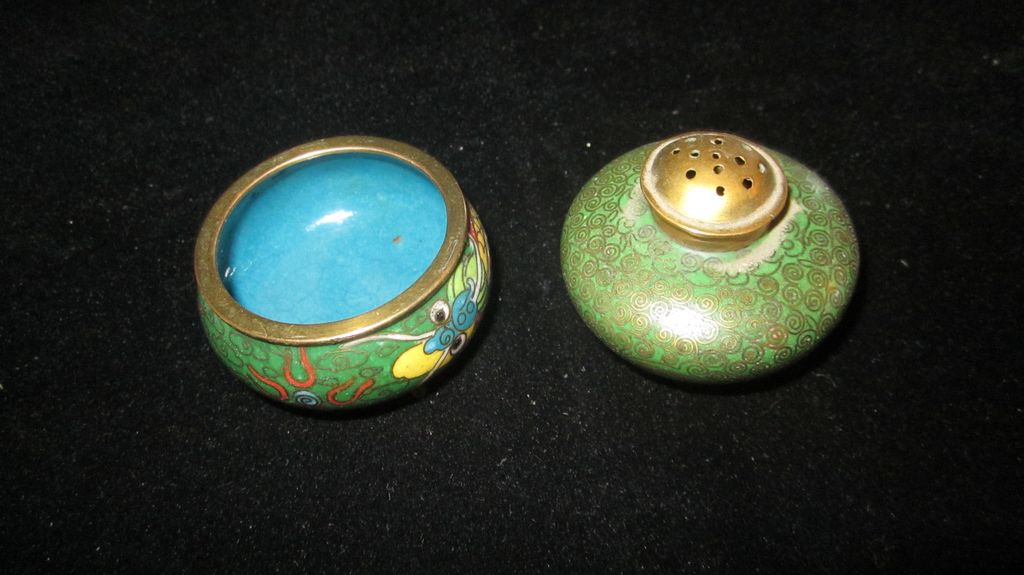 Vintage Cloisonne Salt and Pepper Shaker
