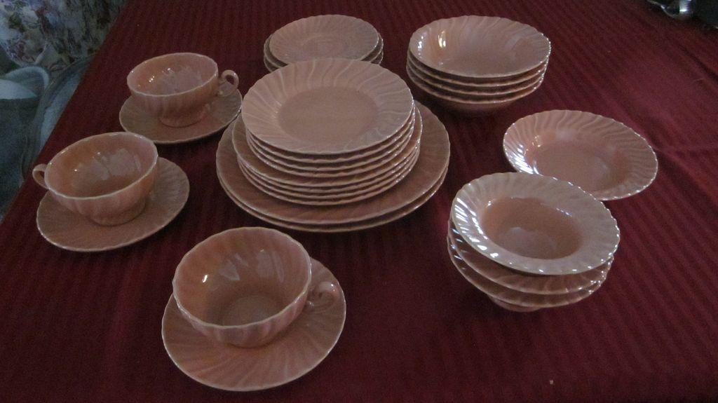 Franciscan Coronado Coral Dinnerware, 27 Pieces