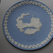 1969 Wedgwood  Blue and White Jasper Christmas Plate