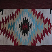 "Navajo Weaving, 17"" X 34"", Saddle Blanket"