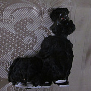 Gluten Free, Velour Covered Black Spaghetti Poodle, Napco