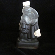 House Of Koshu Satin Glass Hugging Children Figural Wine Bottle