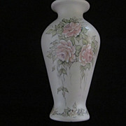 Georgina Hand Painted Pink Rose Vase, 8 3/4""