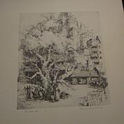 "Mildred Bryant Brooks, 1901-1995, Original Etching ""The Last Tree"""