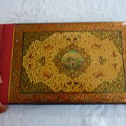 Vintage Persian Papier Mache, Red Black Gilt Photo Album