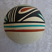 Pueblo Jemez Polychrome Pot, by L. Toya
