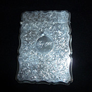 English Victorian Sterling Silver Calling Card Case