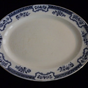 Keeling & Co Romney Platter, Blue and White Transferware