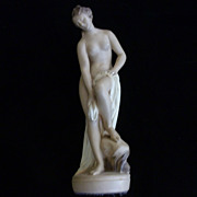 Vintage Chalk Ware Bathing Beauty, 17""