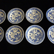 Blue Willow, Japan, Salad Bowls, Matching, Set of 8