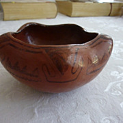 Vintage Pueblo Indian Maricopa Star Shaped Pot