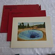 Haynes Red Portfolio Yellowstone Color Plates, Set of 12