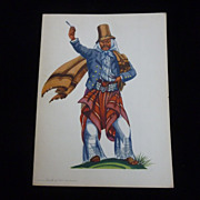 SS Argentina 1956 Menu, Gaucho of 1860
