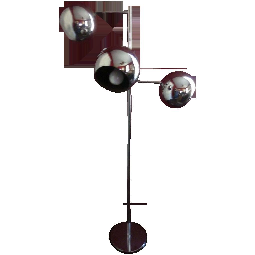 Koch & Lowy OMI Chrome Eyeball Floor Lamp Mid Century SOLD on Ruby ...