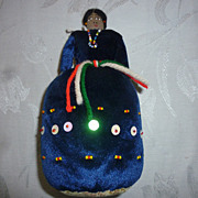 Navajo Blue Velver Pincushion Doll