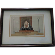 Original Vanity Fair Print, Chief Magistrate, April 25, 1891