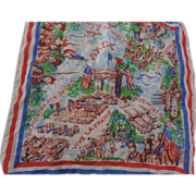 WWII Allies Victory Memorial Hankerchief