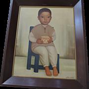 "Gustavo Montoya, Original Print, Framed, 20"" X 24 1/2"""