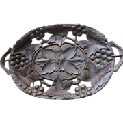 Antique Black Forest Pierced Carved Tray