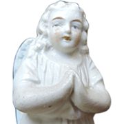 Bisque Kneeling Praying Angel, 4""