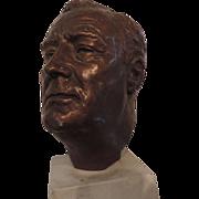 Franklin Roosevelt Bronze Bust, J. Davidson, 1934