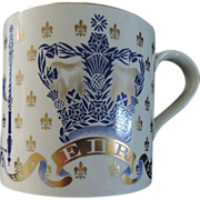 Wedgwood  Mug, Queen Elizabeth II, 25th Anniversary Coronation Mug, Oversized