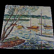 """Quiet Harbor"", Oil Painting, 16"" X 19"", Don Hirleman"