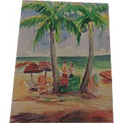 """Miami Beach"", Watercolor, 9"" X 12"", Don Hirleman"