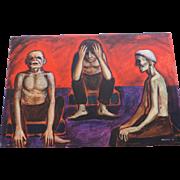 """The Insane"", Acrylic Painting, Don Hirleman, 24"" X 36"""