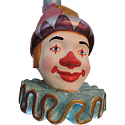 "Large, 20"", Colorful Decorative Clown Head"