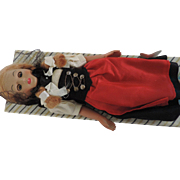EMA Swiss Maiden Costume Doll, Original Box