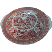 "Royal Tudorware ""Coaching Taverns"" Pink Covered Bowl"