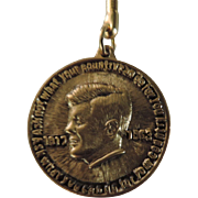 John F. Kennedy Memorial Key Chain, Brass