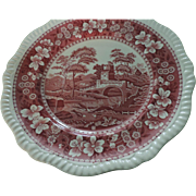 "Spode Tower 10 3/4"" Dinner Plates, Pink, Set of 6"