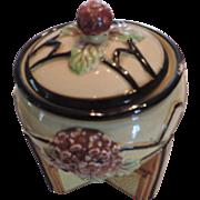 Art Deco Buttress Tobacco Jar, Marumon Ware, Japan
