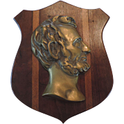 Bronze Lincoln Profile Plaque on Walnut Shield